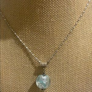 Sterling silver and Murano glass necklace